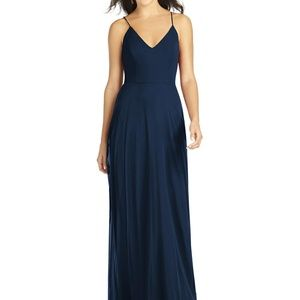 Dessy- Thread Bridesmaid Dress Ida, Midnig, Size 8
